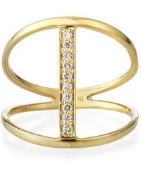 Sydney Evan - Split Pave Diamond Bar Ring Size 6.5 - Lyst
