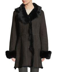 Gorski - Lamb Shearling Stroller Coat W/ Toscana Trim - Lyst