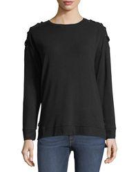 Neiman Marcus - Lacing Grommets Sweatshirt - Lyst