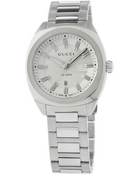 78f769c566a Lyst - Gucci Diamond   Stainless Steel Chronograph Bracelet Watch in ...