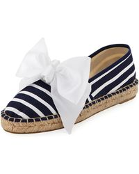 Neiman Marcus - Marne Striped Bow Espadrille - Lyst