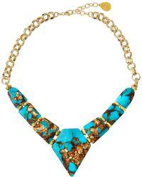 Devon Leigh - Turquoise Bronzite Arrow Necklace - Lyst