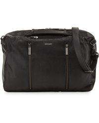 Hook + Albert Leather 3-way Carryall Bag - Black