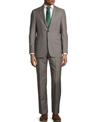Hickey Freeman - Classic-fit Sharkskin Two-piece Suit Gray - Lyst