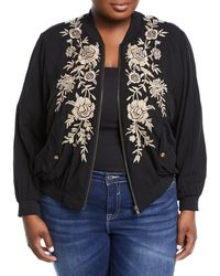 Johnny Was - Lennon Embroidered Bomber Jacket - Lyst