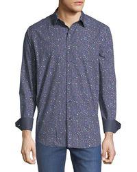 Bugatchi - Classic-fit Music-dot Sport Shirt - Lyst