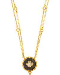 Freida Rothman Double-strand Pave Clover Pendant Necklace - Metallic