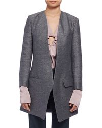 Lanvin - Long Heathered One-button Jacket - Lyst