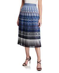 Kate Spade Deco Beale Plisse Midi Skirt - Blue