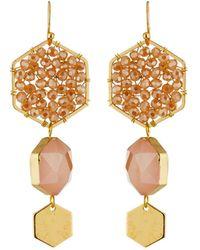 Panacea - Triple Hexagon Drop Earrings - Lyst