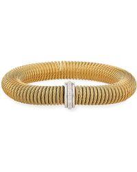 Alor - Kai Steel & 18k Gold Spring-coil Bangle - Lyst