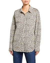 Current/Elliott The Sal Animal-print Cotton Shirt - Multicolor