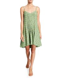 Sanctuary Spring Ahead Floral-print Tank Dress - Green