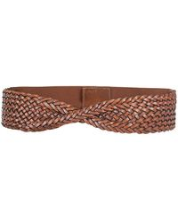 Neiman Marcus - Braided Twist-front Belt - Lyst