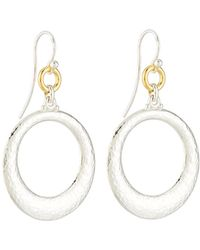 Gurhan - Hoopla Large Tapered Ring Drop Earrings - Lyst