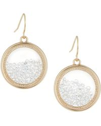 Lydell NYC | Clear Round Shaker Earrings | Lyst