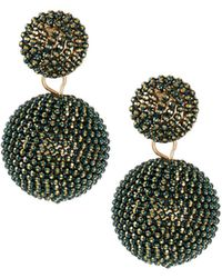 Lydell NYC - Seed Bead Drop Earrings - Lyst