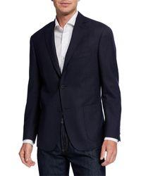 Michael Kors Men's Keeley Solid Sport Coat - Blue