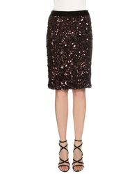Tom Ford - Sequined Stretch-knit Skirt Fuchsia - Lyst