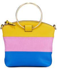 Neiman Marcus Halo Colorblock Small Crossbody Bag - Multicolor
