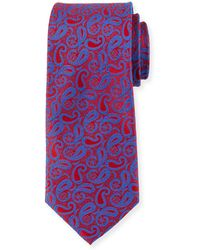 Neiman Marcus - Small-paisley Silk Tie - Lyst