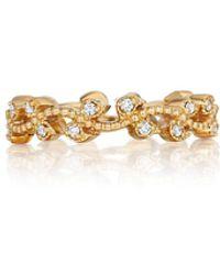 Penny Preville - 18k Rose Gold Petite Leaf Band Ring Size 6 - Lyst