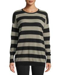 Lyst - Vince Lace-up Side Cashmere Sweater in Natural 39fa9f8d2