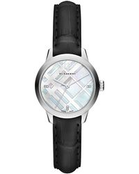 Burberry - 32mm Diamond Dial Watch With Alligator Strap - Lyst