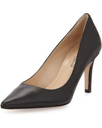 Neiman Marcus - Cissy Pointed-toe Leather Pumps - Lyst