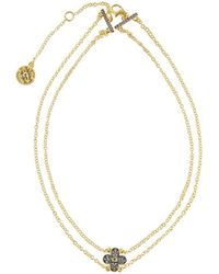 Freida Rothman - Pave Clover Pendant Choker Necklace - Lyst