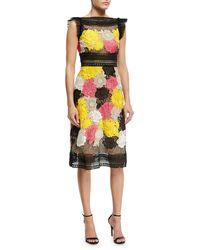 Naeem Khan - Floral Guipure Lace Sheath Dress Multicolor - Lyst
