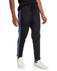 2xist Men's Varsity Modern Track Pants W/ Mesh Side Tape