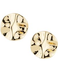 Lydell NYC - Hammered Round Stud Earrings - Lyst
