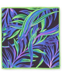 Bugatchi - Neon Leaves Silk Pocket Square - Lyst