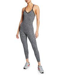35fac39064c Beyond Yoga - Elevation V-neck Strappy Knit Full Bodysuit - Lyst