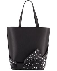 Christian Siriano Embellished Bow Shopper Tote