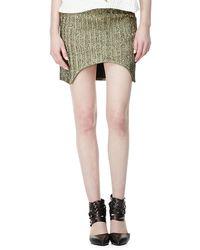 Sass & Bide - March To Victory Metallic Skirt - Lyst