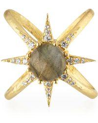 Indulgems - Celestia Labradorite Starburst Ring - Lyst