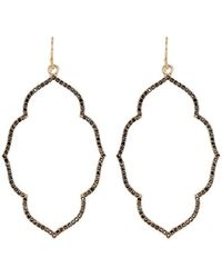 Panacea Crystal Moroccan-drop Earrings - Metallic