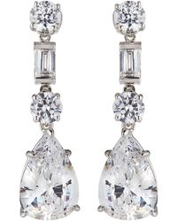 Fantasia by Deserio - Cz Mixed-shape Drop Earrings - Lyst