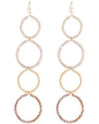 Panacea - Linear Crystal Circle Drop[ Earrings - Lyst