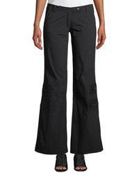 Anatomie Flare-leg Cargo Pants W/ Zip Pockets - Black
