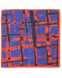 Bugatchi - Striped Paisley Silk Pocket Square - Lyst