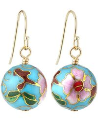 A.V. Max - Cloisonne Bead Earrings Turquoise - Lyst