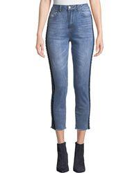 Velvet Heart - Louie Racer Stripe Cropped Jeans - Lyst