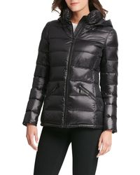 DKNY - Horizontal-quilted Packable Jacket W/ Hood - Lyst