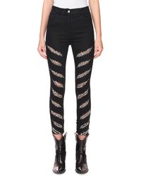 Redemption High-rise Slashed Skinny Jeans - Black