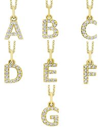 KC Designs - 14k Yellow Gold Diamond Initial & Chain - Lyst