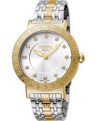 Ferrè Milano - Women's 38mm Stainless Steel Watch With Bracelet Golden/steel - Lyst
