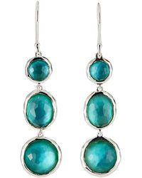 Ippolita Wonderland 3-drop Earrings Denim Blue
